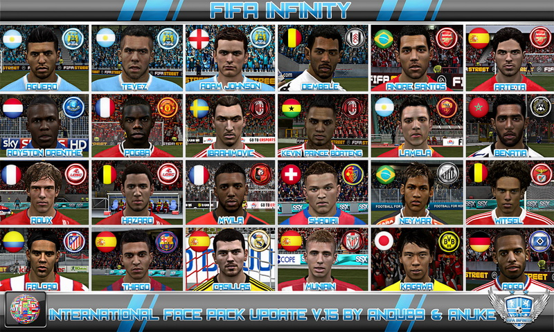 Screenshot van International Face Pack Update v.15
